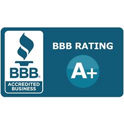 A+ grade from the Better Business Bureau