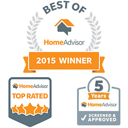 """HomeAdvisor's """"Best of"""" list, in addition to being awarded """"Elite Service"""" and """"Top Rated"""""""